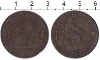 Изображение Монеты Испания 10 сентим 1870 Медь VF Временное правительс