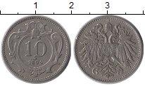 Изображение Монеты Австрия 10 геллеров 1894 Медно-никель XF