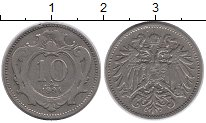 Изображение Монеты Европа Австрия 10 геллеров 1894 Медно-никель XF