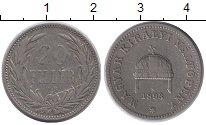 Изображение Монеты Европа Венгрия 20 филлеров 1893 Медно-никель XF
