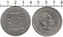 Изображение Монеты Замбия 5 шиллингов 1965 Медно-никель XF+