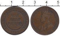 Изображение Монеты Австралия 1/2 пенни 1921 Бронза XF-