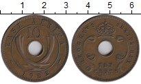 Изображение Монеты Великобритания Восточная Африка 10 центов 1952 Бронза XF