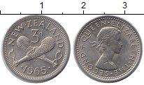Изображение Монеты Новая Зеландия 3 пенса 1965 Медно-никель XF