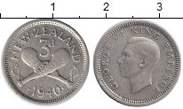 Изображение Монеты Австралия и Океания Новая Зеландия 3 пенса 1940 Серебро XF
