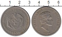 Изображение Монеты Южная Америка Колумбия 50 сентаво 1959 Медно-никель XF