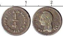 Изображение Монеты Северная Америка Мексика 1/4 реала 1862 Серебро XF