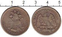 Изображение Монеты Мексика 25 сентаво 1887 Серебро VF