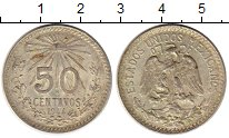 Изображение Монеты Северная Америка Мексика 50 сентаво 1944 Серебро XF+