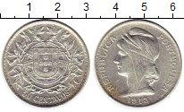 Изображение Монеты Европа Португалия 50 сентаво 1913 Серебро XF+