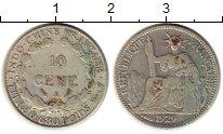 Изображение Монеты Индокитай 10 сантим 1929 Серебро XF-