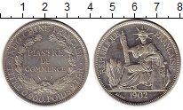 Изображение Монеты Индокитай 1 пиастр 1902 Серебро XF+