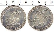 Изображение Монеты Португалия 1000 эскудо 1999 Серебро UNC- 25-летие революции