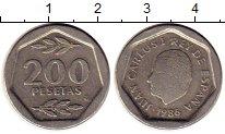 Изображение Монеты Испания 200 песет 1986 Медно-никель XF