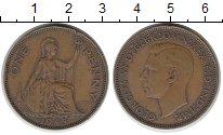 Изображение Монеты Великобритания 1 пенни 1945 Бронза XF-
