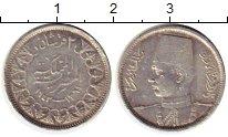 Изображение Монеты Египет 2 пиастра 1943 Серебро XF
