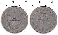Изображение Монеты Руанда 1 франк 1977 Алюминий XF