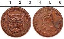 Изображение Монеты Остров Джерси 1/12 шиллинга 1964 Бронза XF Елизавета II