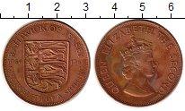 Изображение Монеты Остров Джерси 1/12 шиллинга 1966 Бронза XF