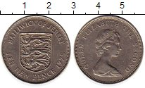 Изображение Монеты Великобритания Остров Джерси 10 пенсов 1975 Медно-никель XF
