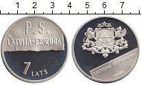 Изображение Монеты Европа Латвия 1 лат 2004 Серебро Proof
