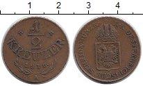 Изображение Монеты Европа Австрия 1/2 крейцера 1816 Медь XF