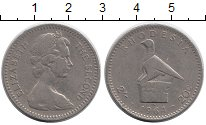 Изображение Монеты Родезия 20 центов 1964 Медно-никель XF-