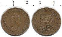 Изображение Монеты Остров Джерси 1/4 шиллинга 1964 Латунь XF