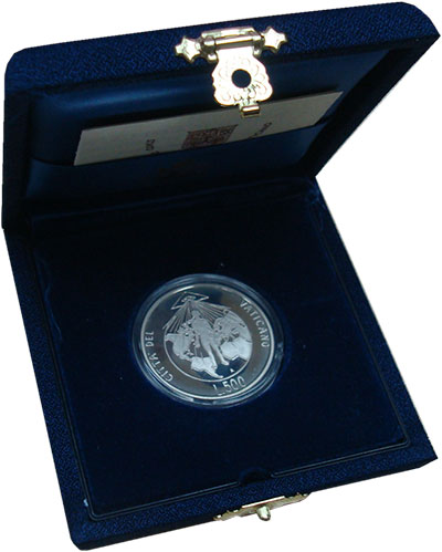 Изображение Монеты Ватикан 500 лир 1994 Серебро Proof