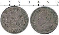 Изображение Монеты Северная Америка Гаити 50 сентим 1908 Медно-никель VF