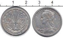 Изображение Монеты Франция Французская Экваториальная Африка 1 франк 1948 Алюминий XF