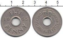 Изображение Монеты Фиджи 1 пенни 1965 Медно-никель XF Елизавета II