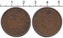 Изображение Монеты Азия Индия 1/4 анны 1940 Бронза XF