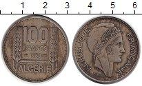 Изображение Монеты Африка Алжир 100 франков 1950 Медно-никель XF