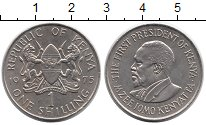 Изображение Монеты Кения 1 шиллинг 1975 Медно-никель UNC-
