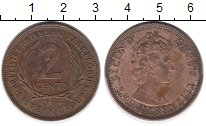 Изображение Монеты Карибы 2 цента 1964 Бронза XF
