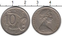 Изображение Монеты Австралия 10 центов 1974 Медно-никель XF