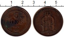 Изображение Монеты Европа Швеция 5 эре 1874 Бронза XF