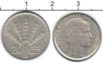 Изображение Монеты Уругвай 20 сентим 1942 Серебро XF