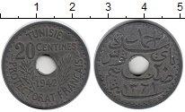 Изображение Монеты Африка Тунис 20 сантим 1942 Цинк XF