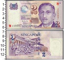 Изображение Банкноты Сингапур 2 доллара 1999  XF+