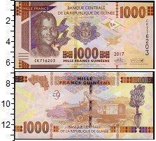 Изображение Банкноты Африка Гвинея 1000 франков 2017  UNC
