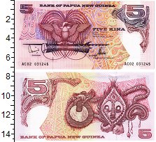 Изображение Банкноты Папуа-Новая Гвинея 5 кин 0  UNC