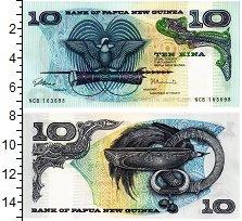 Изображение Банкноты Папуа-Новая Гвинея 10 кин 0  UNC Герб Папуа — Новой Г