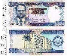 Изображение Банкноты Бурунди 500 франков 1995  UNC Крупный формат. Порт