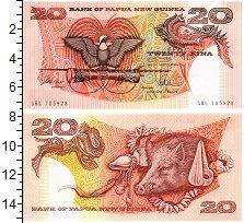 Изображение Банкноты Папуа-Новая Гвинея 20 кин 1981  UNC Голова  кабана