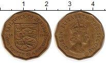Изображение Монеты Остров Джерси 1/4 шиллинга 1966 Латунь XF