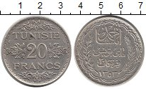 Изображение Монеты Африка Тунис 20 франков 1934 Серебро XF