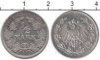 Изображение Монеты Германия 1/2 марки 1906 Серебро XF G