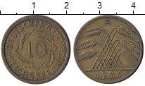 Изображение Монеты Веймарская республика 10 пфеннигов 1926 Латунь XF